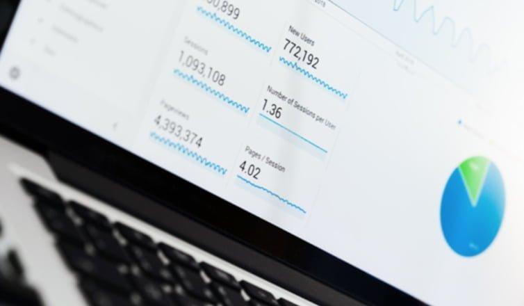David Peake: screenshot of Google Analytics